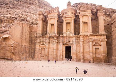The monastery in Petra Jordan