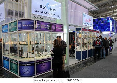 Hannover, Germany - March 13: The Stand Of Good Way Technology On March 13, 2014 At Cebit Computer E