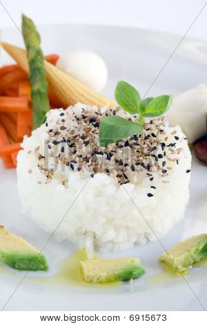 Rice And Sesame Seeds
