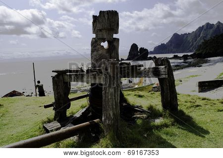 Wooden Batanes Boat Puller