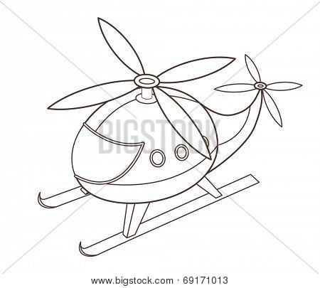 cute toy helicopter (vector illustration)