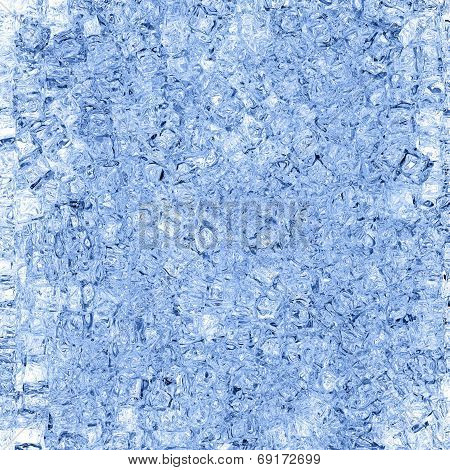 Background Of Crushed Ice Crystals And Water