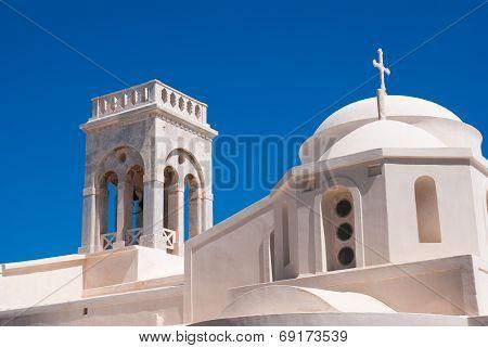 Belfry At Blue Sky On Mykonos Island, Greece
