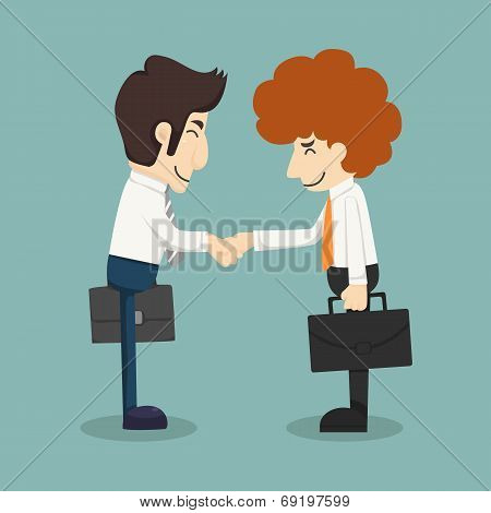 Businessman Handshake, Businessmen Making A Deal