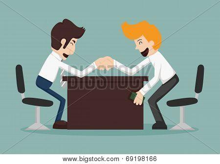 Businessman Corruption Concept