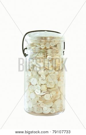 Jar Of White Buttons