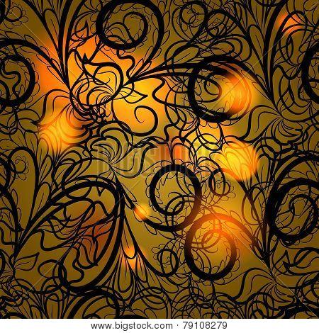 Autumn black lace