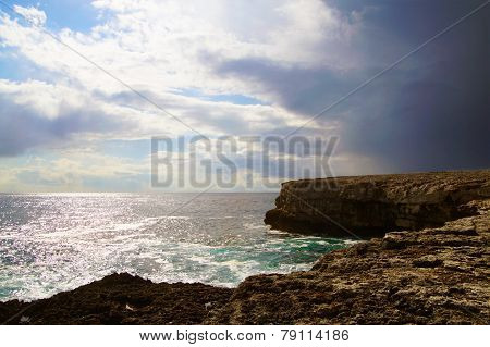 Dramatic ocean and sky