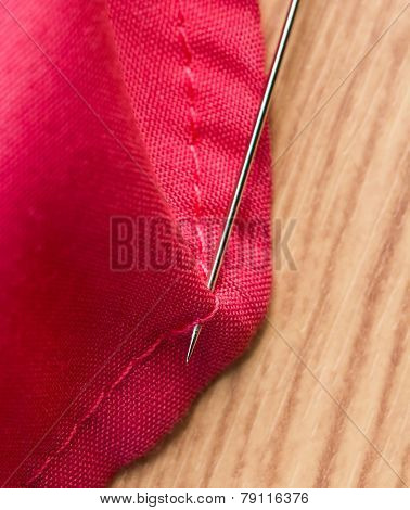 Sewing Cloth Represents Sewer Tailor And Embroider