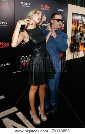 NEW YORK-AUG 26: Actor Stephen Baldwin (R) and daughter Hailey Baldwin attend the New York premiere of 'One Direction: This Is Us' at the Ziegfeld Theater on August 26, 2013 in New York City.