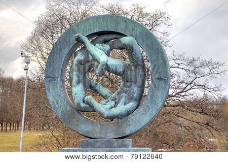 Sculptures Gusava Vigeland In Frogner Park