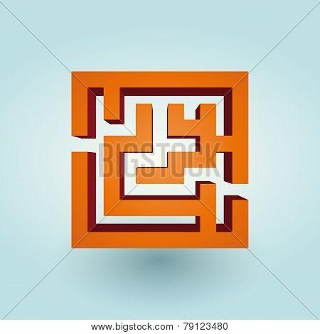 Simple Orange Maze