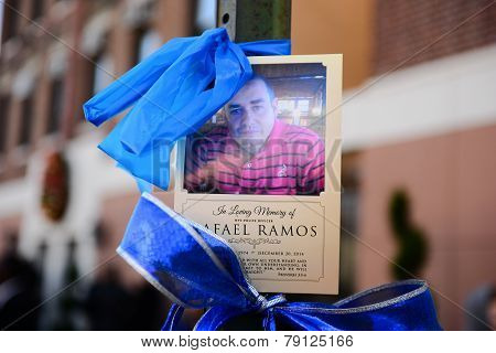 Rafael Ramos picture with blue ribbons