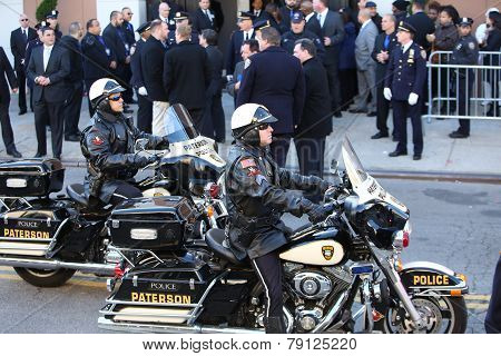 Motor police procession
