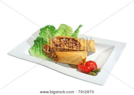 Grilled Burrito With Pork