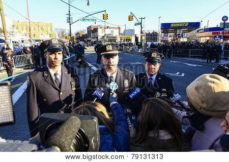 Captain Sergio Centa speaks to the press