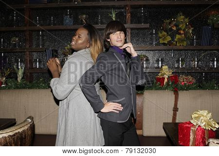 LOS ANGELES - DEC11: Alex Newell, Emerson Collins at SPARKLE: An All-Star Holiday Concert to benefit The Actors Fund at Rockwell Table & Stage on December 11, 2014 in Los Angeles, California