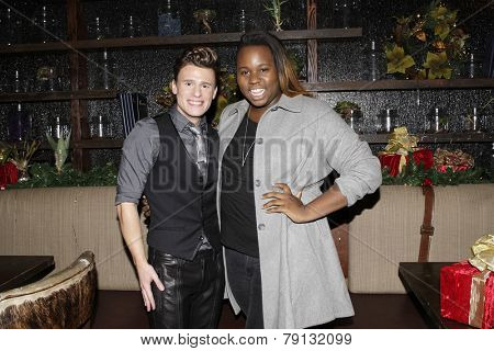 LOS ANGELES - DEC11: Blake McIver, Alex Newell at SPARKLE: An All-Star Holiday Concert to benefit The Actors Fund at Rockwell Table & Stage on December 11, 2014 in Los Angeles, California