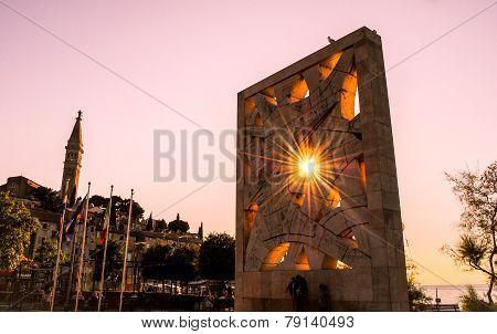sunset at memorial monument