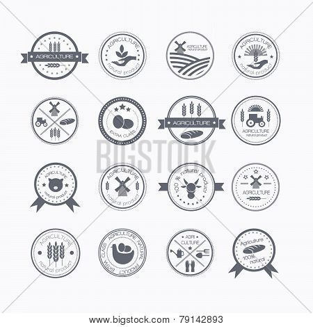 Agriculture And Farming Logos.