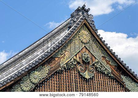 Ninomaru Palace Rooftop At Kyoto Nijo Castle, Japan