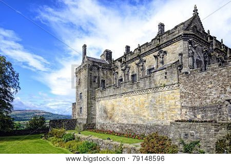 Queen Anne Garden And Royal Palace At Striling Castle, Scotland