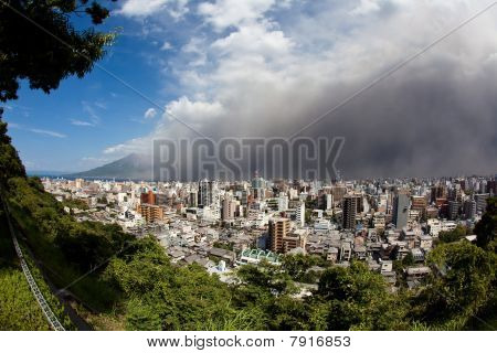 Mt Sakurajima volcano eruption brings ash to Kagoshima, Japan
