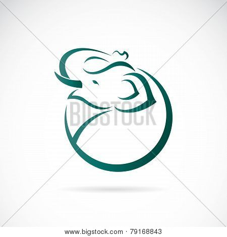 Vector Image Of An Elephant Design On White Background