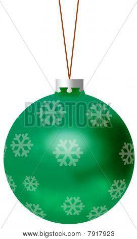 Isolated green Christmas Ball