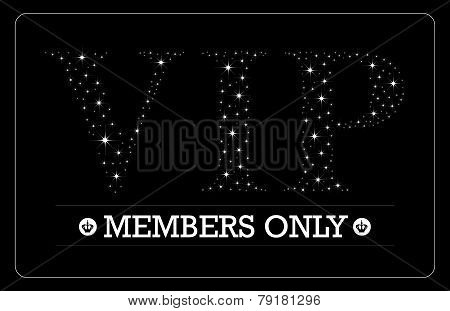 VIP Members only card design