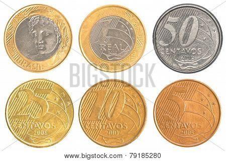 Brazil Circulating Coins Collection Set