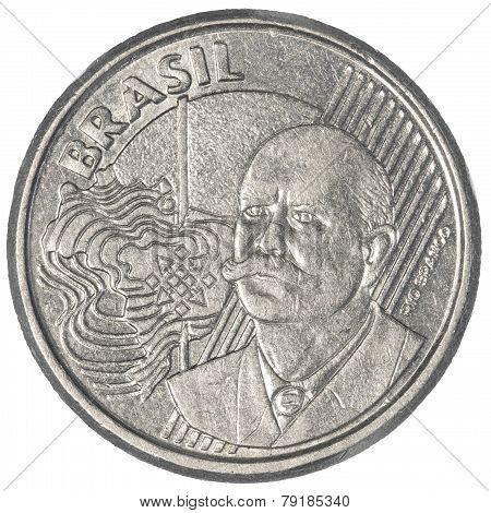 50 Brazilian Real Centavos Coin