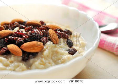 Closeup Of Nutritious Oatmeal