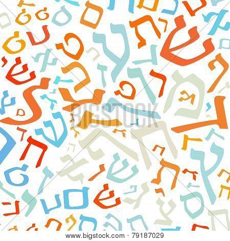 Hebrew Alphabet Background
