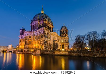Berlin Cathedral (berliner Dom) At Twilight
