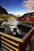 sea landscape of a fishing village in north norway poster