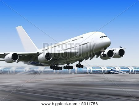 Big Plane In Airport