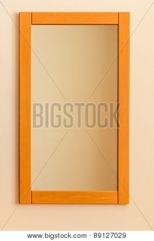 bedroom mirror, symbolizing copy space, identity, order, simplicity