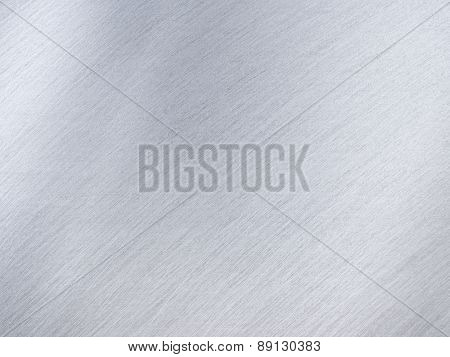 Light Grey Metal Or Steel Texture With Reflection Stripes