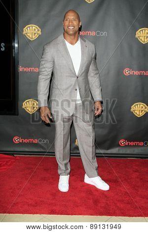 LAS VEGAS - APR 21:  Dwayne Johnson, aka The Rock at the Warner Brothers 2015 Presentation at Cinemacon at the Caesars Palace on April 21, 2015 in Las Vegas, CA
