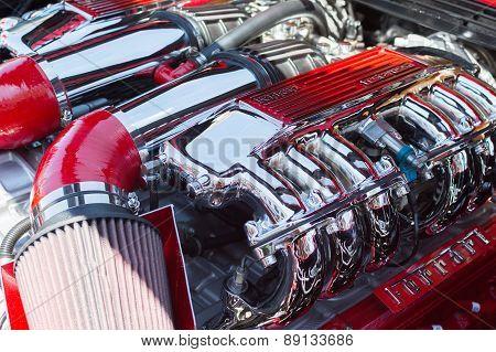 Ferrari Engine Car On Display