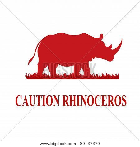 Caution Rhinoceros