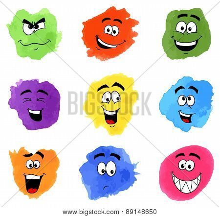 Color Patches With Emotional Faces