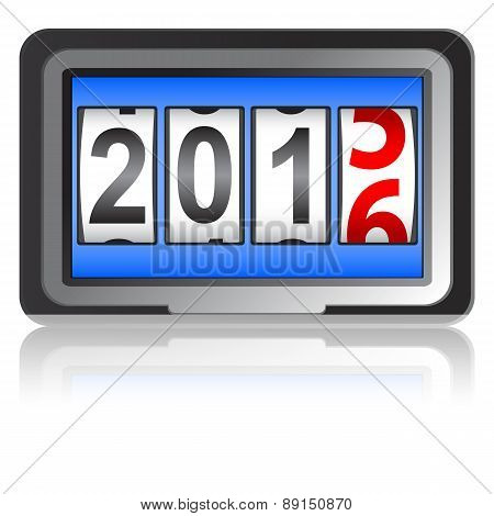2016 New Year counter, vector illustration.