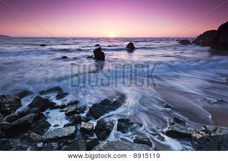 Sunset at Dillon Beach California