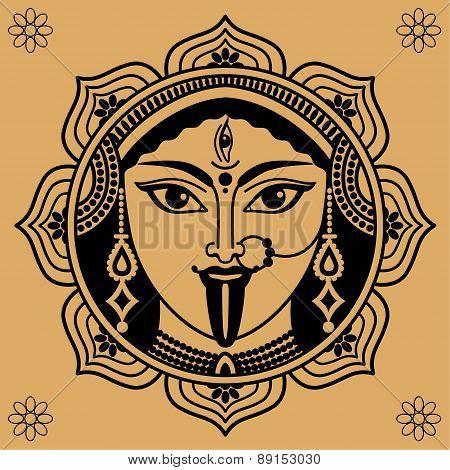 Indian Deity Face