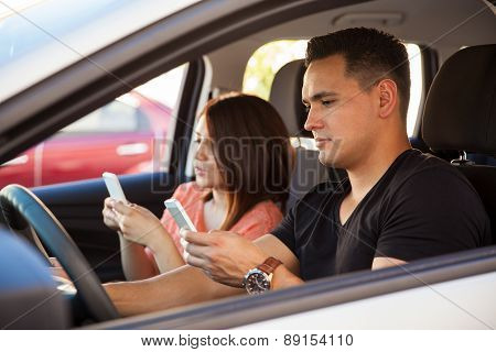 Young Adults Texting And Driving