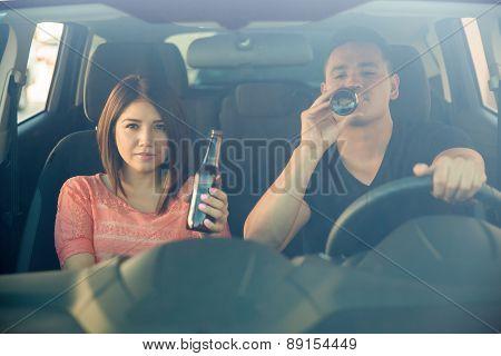Drinking Beer Behind The Wheel