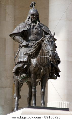 Bronze Statue Of Genghis Khan's Warriors