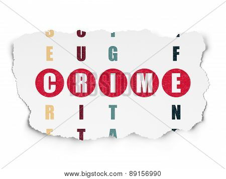Protection concept: word Crime in solving Crossword Puzzle